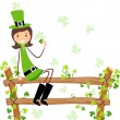 St. Patrick Girl — Stock Photo