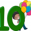 Number Kid 10 - Foto de Stock