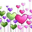 Colorful Hearts — Stock Photo #8586963