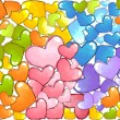 Colorful Hearts — Stock Photo #8586973