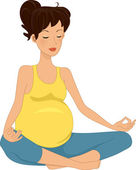 Pregnancy Meditation — Stock Photo