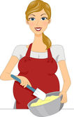 Pregnant Baker — Stock Photo