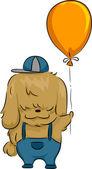 Cão de balão — Fotografia Stock