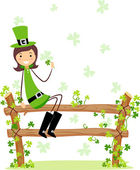 St. Patrick Girl — Stock Photo