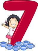 Number Kid 7 — Stock Photo