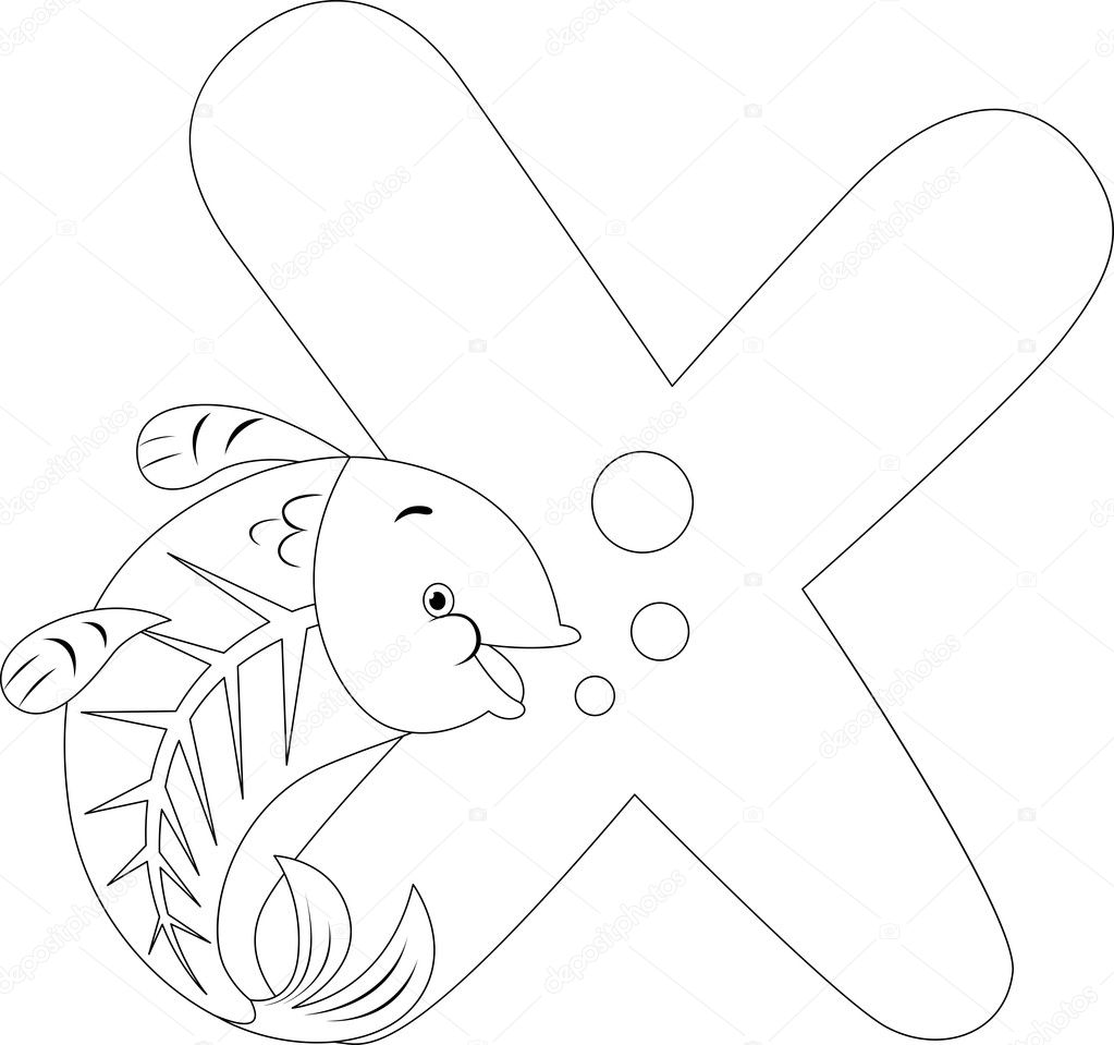 X ray coloring page - X Ray Fish Coloring Page Photo 27