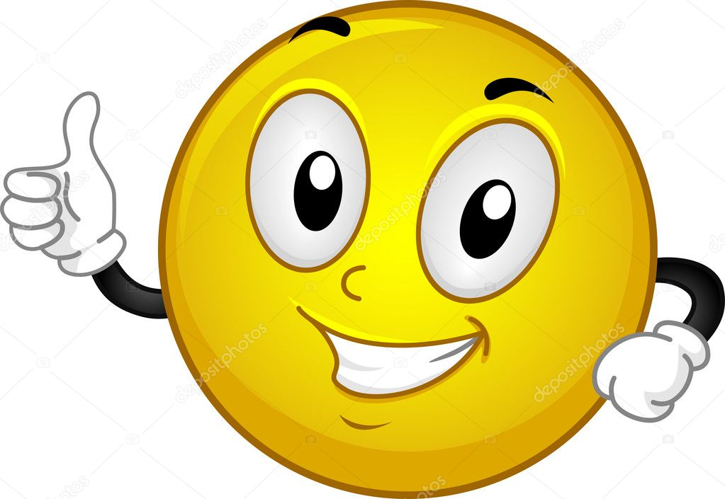 Illustration of a Smiley Giving a Thumbs Up — Stock Photo #8587097