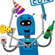 New Year Robot — Stock Photo
