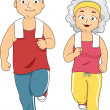 Jogging Couple — Stock Photo