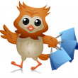Stock Photo: Shopper Owl