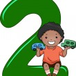 Number Kid 2 — Stock Photo