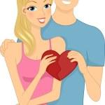 Valentine Couple — Stock Photo