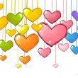 Colorful Hearts — Stockfoto