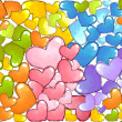Colorful Hearts — Stock Photo #8942983