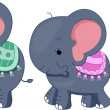 Elephant Family — Stock Photo #8943059