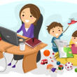 Working Mom — Stock Photo #8943078