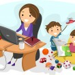 Stock Photo: Working Mom