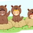 Groundhog Kids - Stock Photo