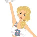 Football Cheerleader — Stock Photo #8943100