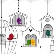 Stock Photo: Birds in Cages