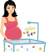 Baby Crib — Stock Photo