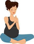 Pregnancy Yoga — Stock Photo