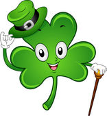 Shamrock Mascot — Stock Photo