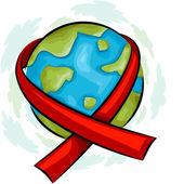 ícone de consciência de aids do mundo — Foto Stock