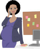 Pregnant Office Worker — Stock Photo