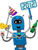 New Year Robot — Stock Photo