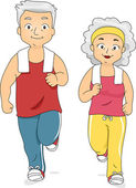 Jogging Couple — 图库照片