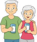 Milk Couple — Stock Photo