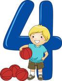 Number Kid 4 — Stock Photo