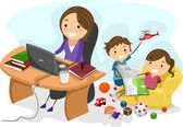 Working Mom — Stock Photo