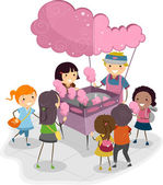 Cotton Candy Kids — Stock Photo