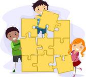 Children's Puzzle — Stock Photo