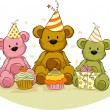 Stock Photo: Bear Birthday,