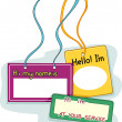 Name Tags - Stock Photo