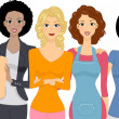 group of women — Stock Photo