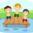 Dock Boys — Stock Photo