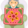 Stockfoto: Grandmother Quilt