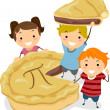 Pie Kids - Stock Photo