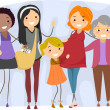 Women from Different Generations — Stock Photo #9548799