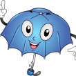 Umbrella Mascot — Stock Photo