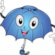 Umbrella Mascot — Stock Photo #9548803