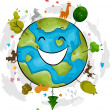 Earth Mascot — Stock Photo #9548851