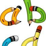 Pencil Alphabet — Stock Photo #9548855