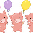Pig Balloons — Stock Photo