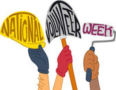 National Volunteer Week — Foto Stock