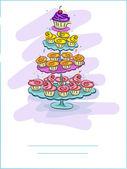 Cupcake Card — Stock Photo
